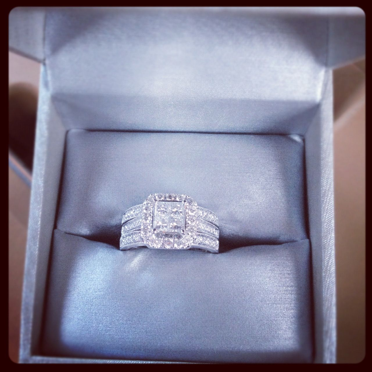 zales wedding rings sets Zales Bridal Set Engagement Ring 2 Wedding Bands My DREAM