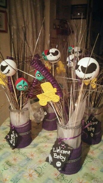 Nightmare before Christmas baby shower centerpieces Things I - nightmare before christmas baby shower decorations