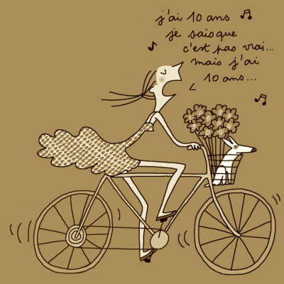 je sais que c'est pas vrai, mais j'ai 10 ans | Carte | Pinterest | Bikes, Humour and Citations ...