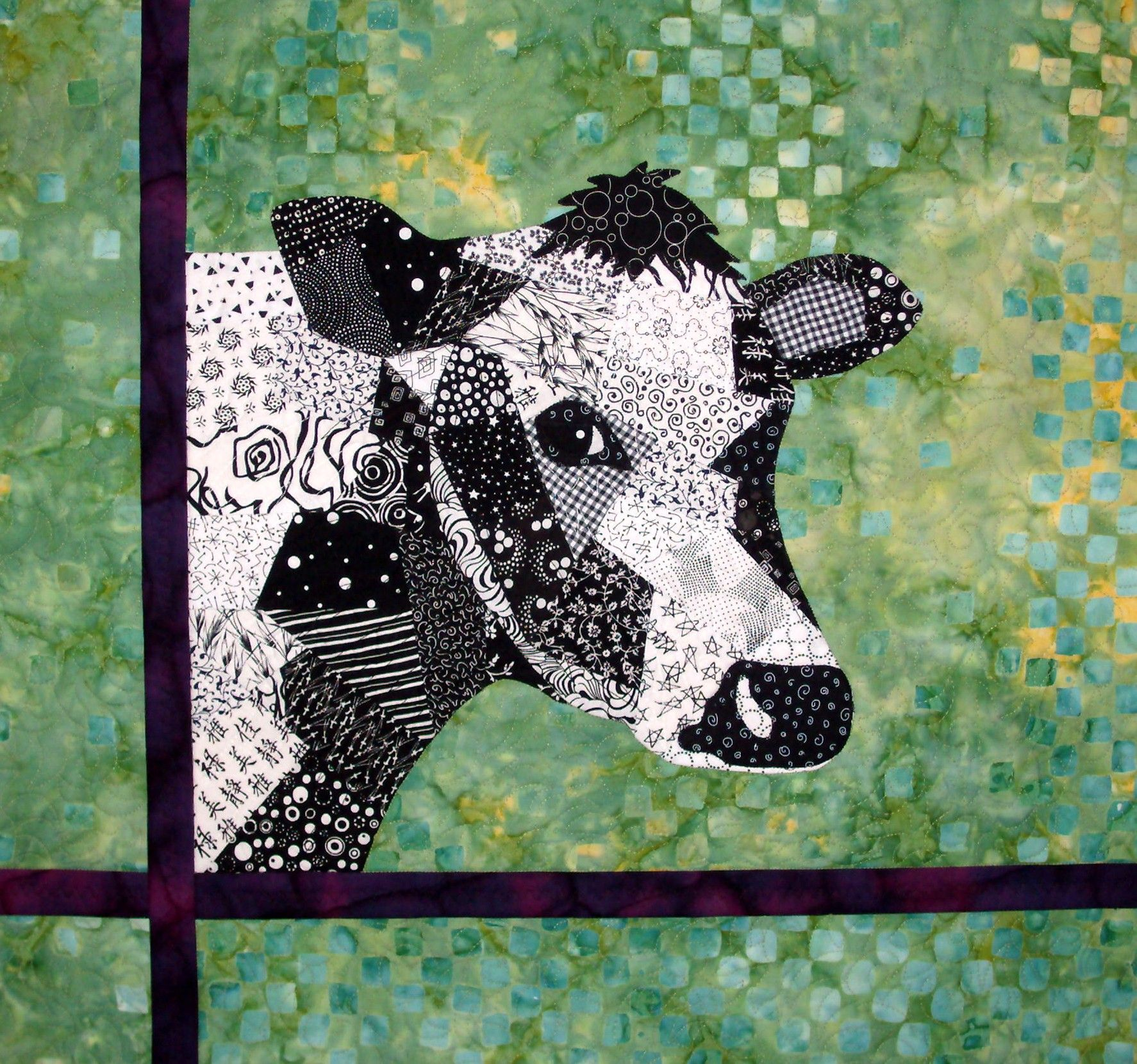 Kuh Malen Cow Quilt Amazing Quotpainting Quot And Quotshading Quot Using Fabric