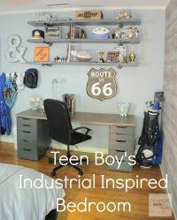 Teen Boy's Room Industrial Shelving :: OrganizingMadeFun ...