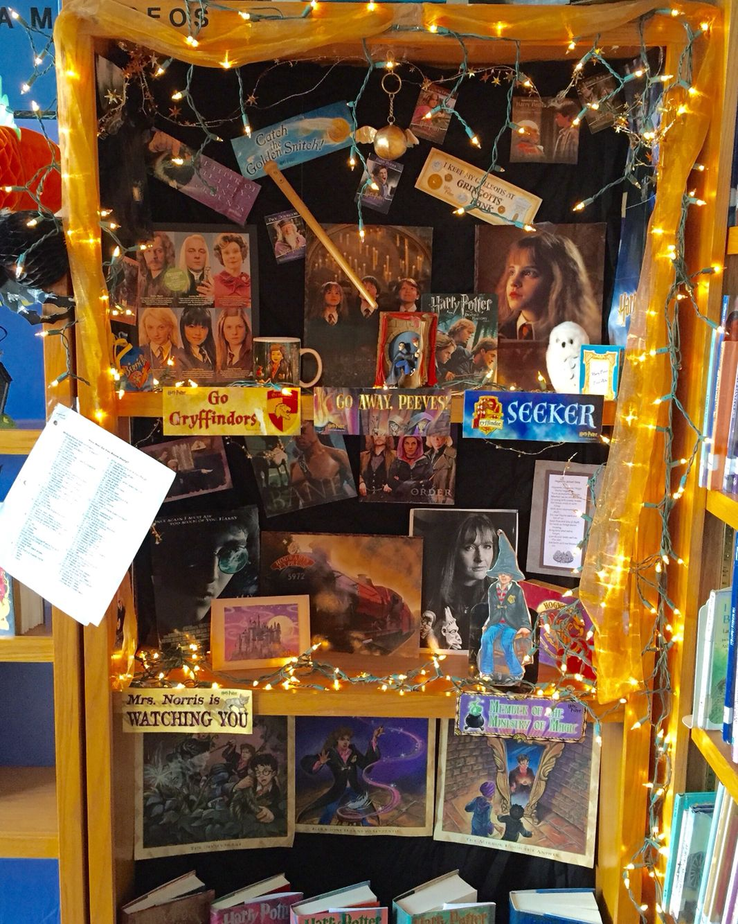 Harry Potter Display Harry Potter Display In The School Library 2015 Library