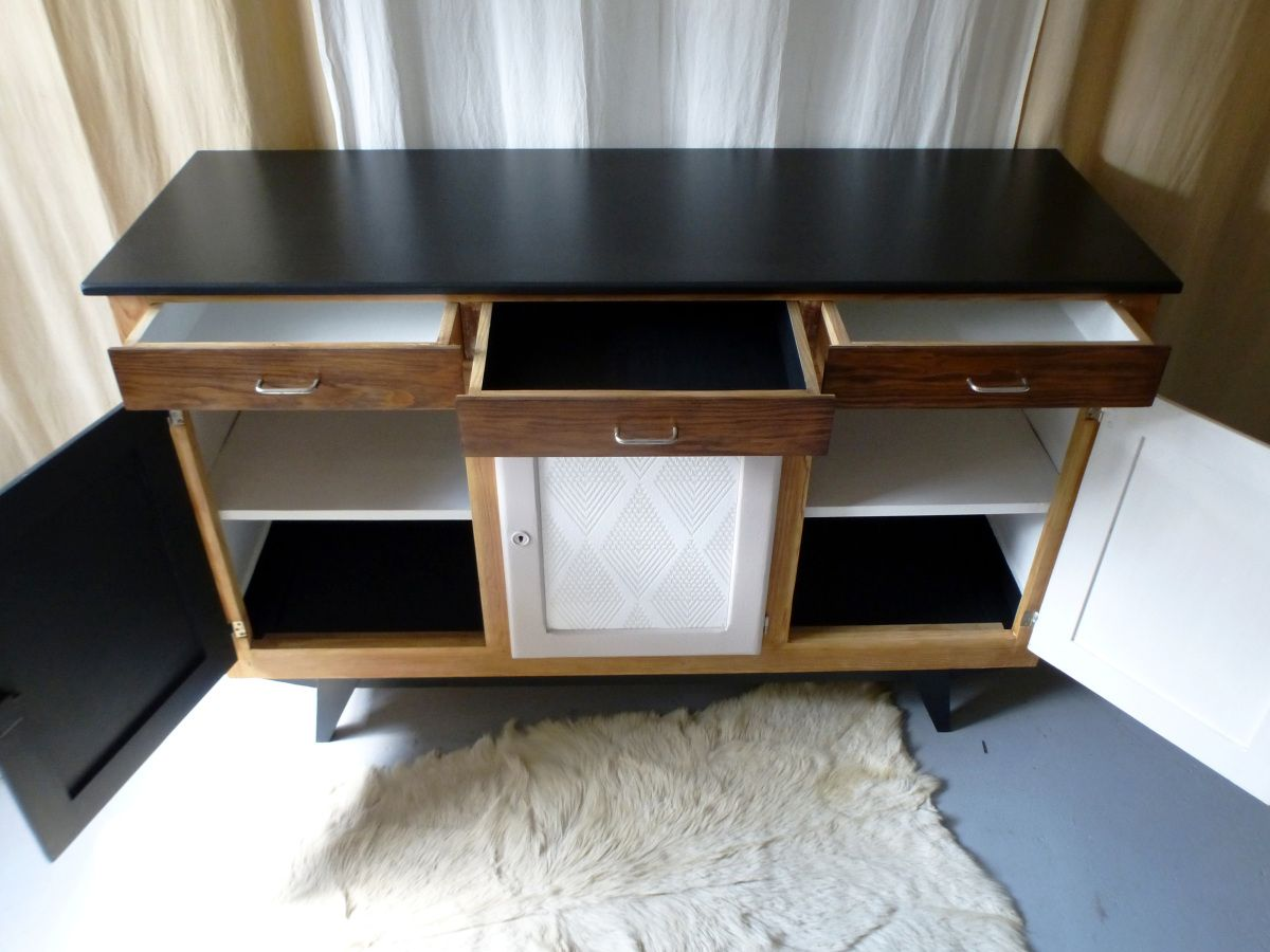 Meuble Bahut Buffet Vintage Bahut Enfilade Relooké Dcosmose Relooking Meuble