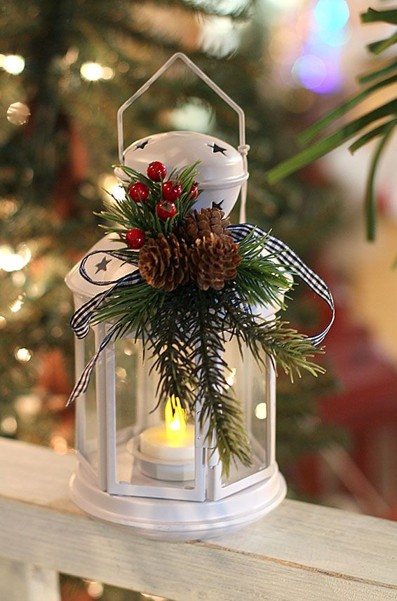 Top Christmas Lantern Decorations That Brighten Pinterest   Battery  Operated Christmas Decorations