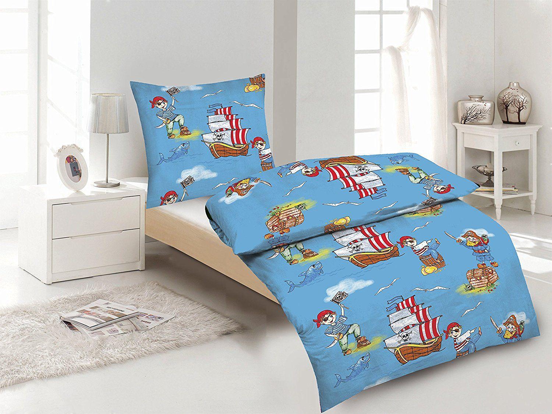 Aminata Kids Coole Jungen Kinder Bettwäsche 135x200 Cm
