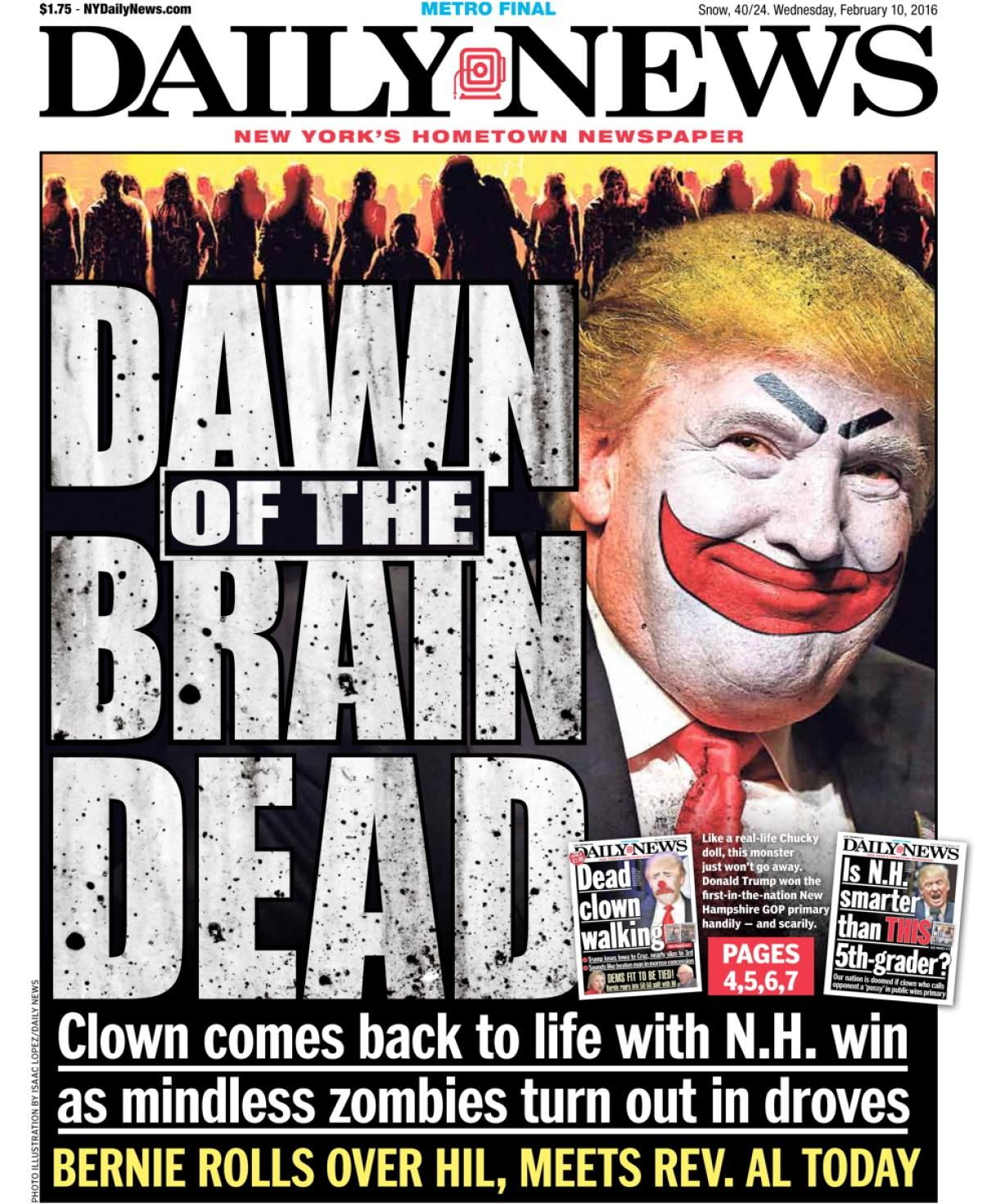 House of horrors november 9 2016 photos new york daily news front pages on the presidential election