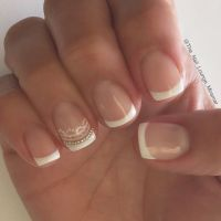 35 French Nail Art Ideas | Bridal nail art, Bridal nails ...