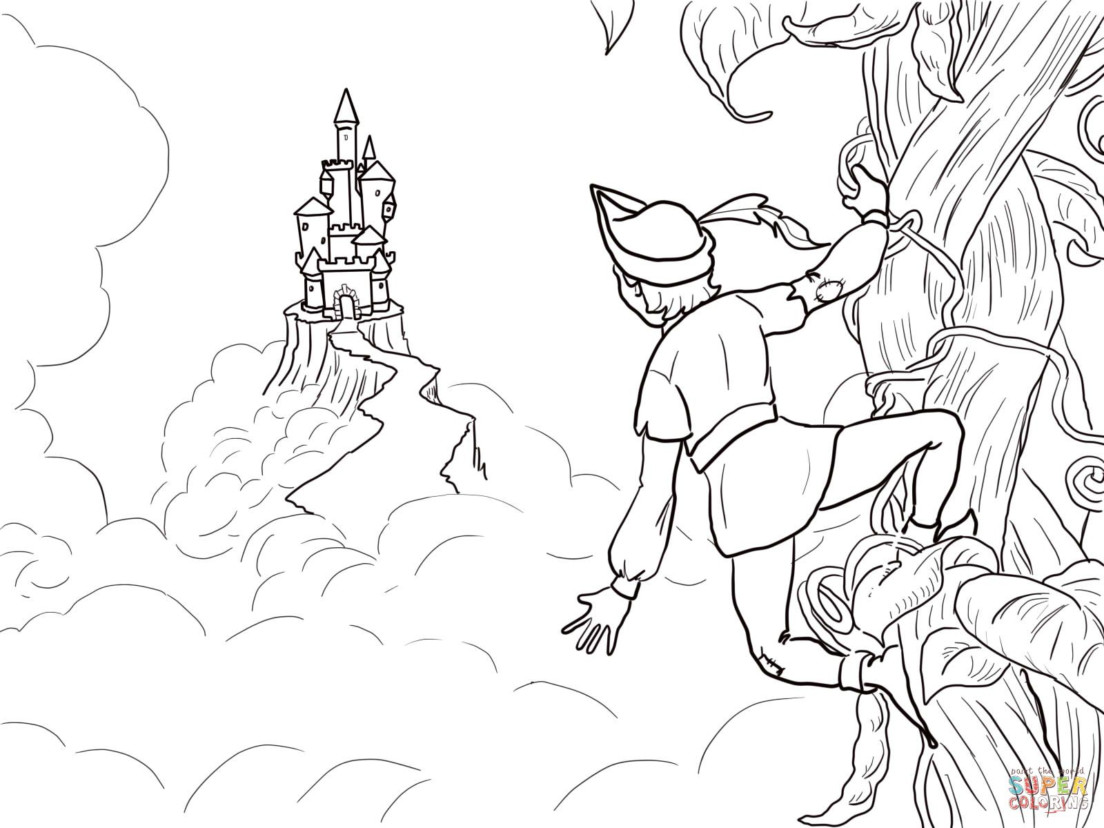 Jack and the beanstalk castle coloring page from jack and the beanstalk category select from 24661 printable crafts of cartoons nature animals