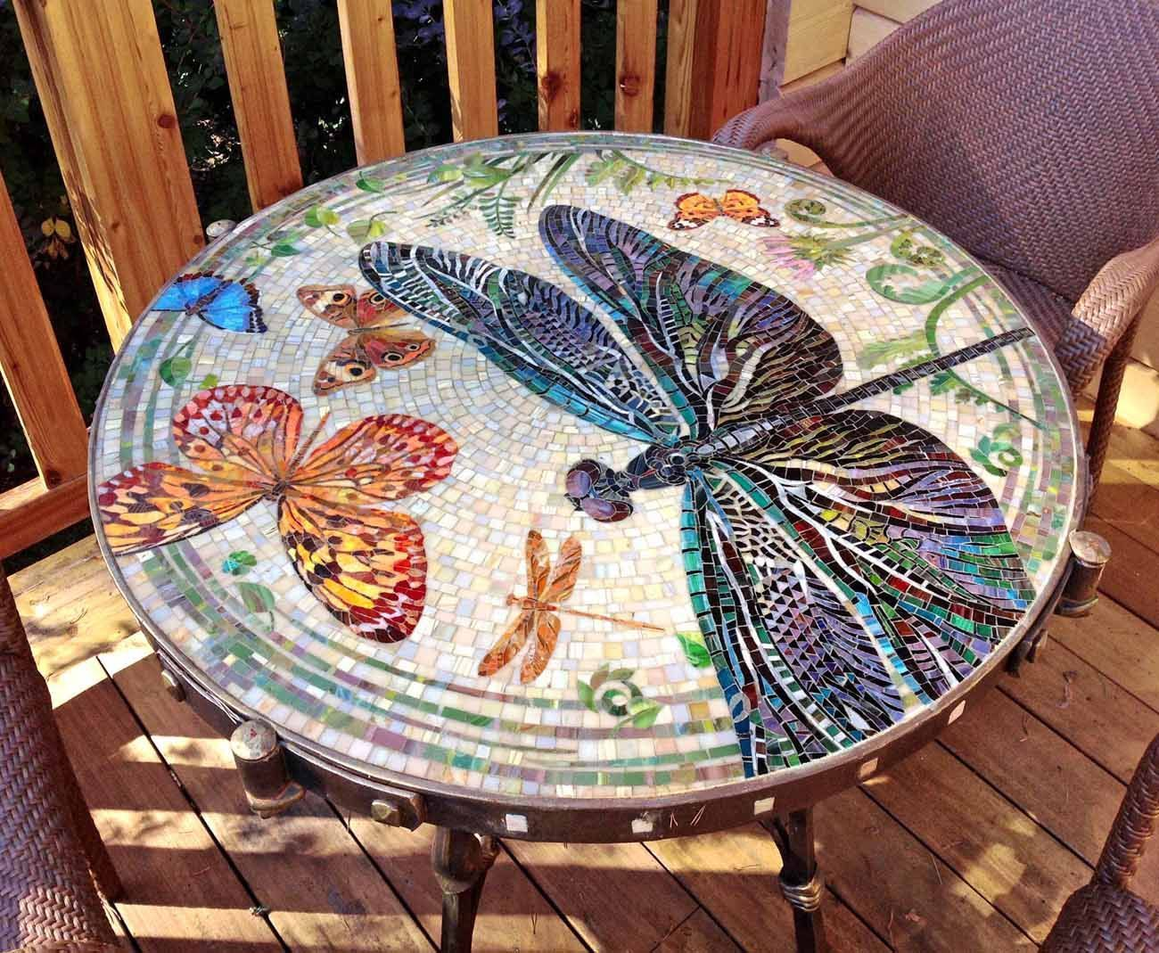 Table Et Chaise Mosaic Мозаичный столик More Mosaics Pinterest Mosaique