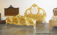 Italian tufted Gold Leaf Furniture Bedroom Luxury ...