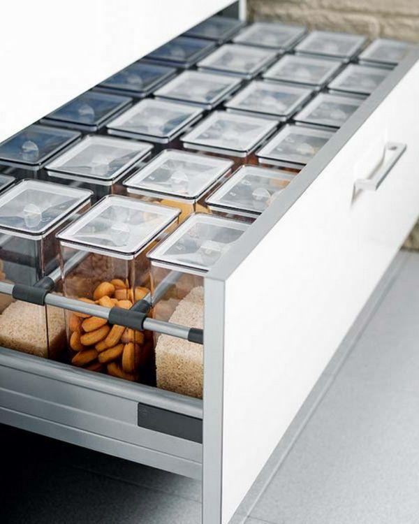 praktische Ideen Organization der Küchenschubladen gewürze modern - moderne kuche praktische kuchengerate