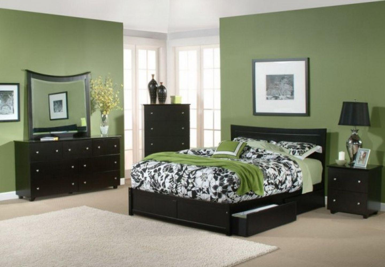green wall colors bedroom
