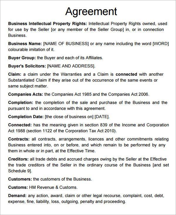 short form asset purchase agreement Agreement Pinterest - asset purchase agreement
