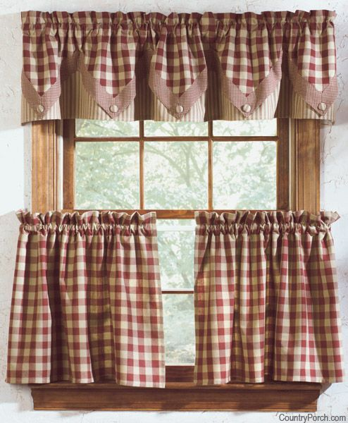 Country Kitchen Curtains - Thearmchairs CURTAINS \ DRAPES - country valances for living room