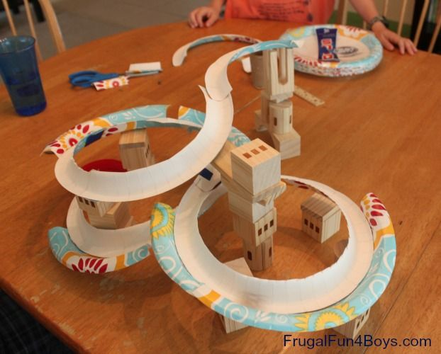 Make A Marble Run With Paper Plates Very Cool All