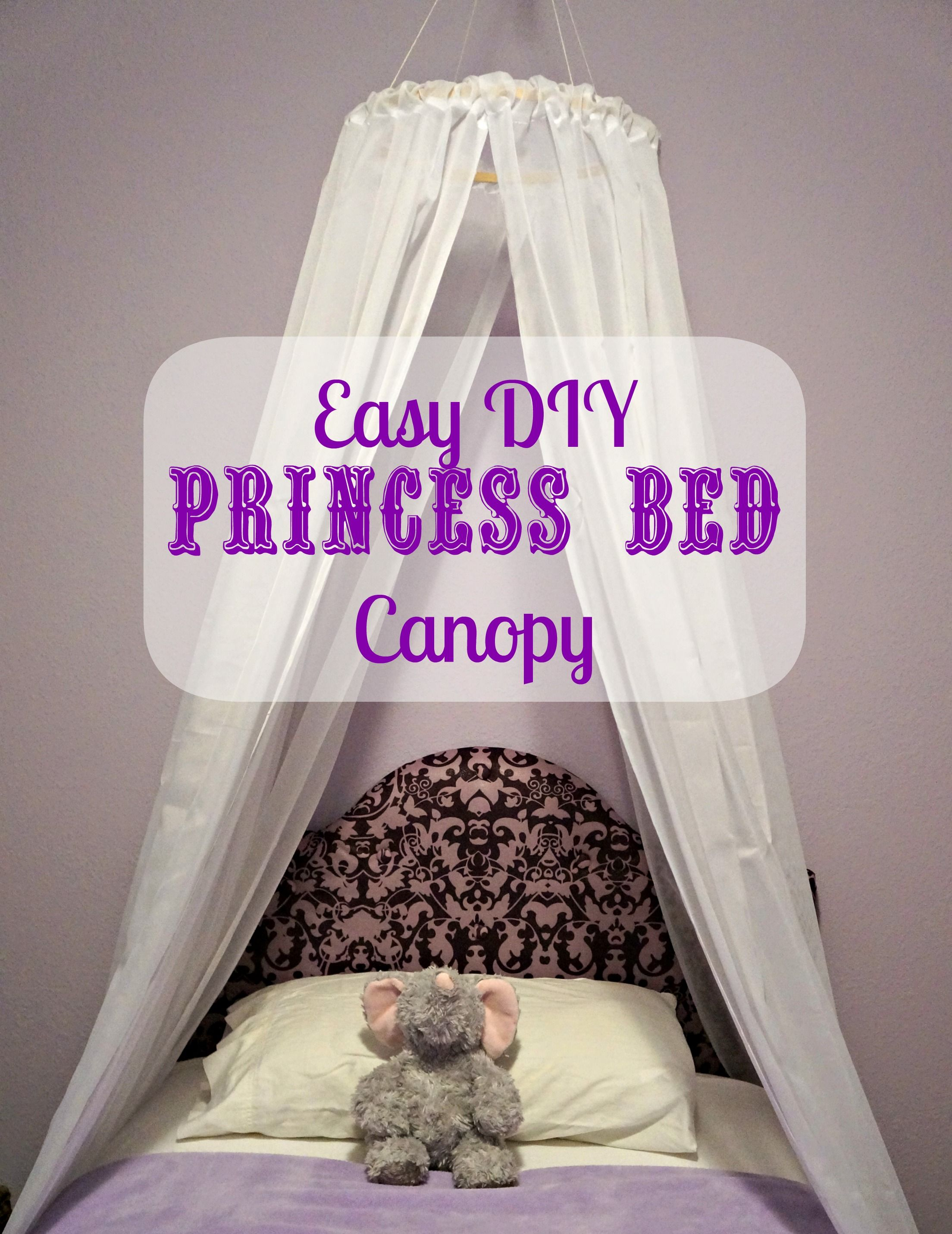 Little Girl Canopy Bed Ideas Diy Easy Princess Bed Canopy I 39m Thinking About Doing This