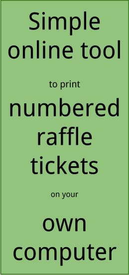 Raffle Ticket Creator Print numbered raffle tickets at home using - numbered tickets template