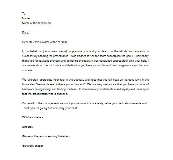 thank you letter employee free word excel pdf format appreciation - employee thank you letter