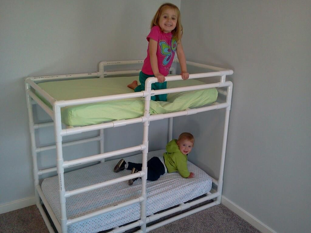 Toddler Bunks Pvc Toddler Bunk Bed From 1 Quot Schedule 40 Pipe Pvc
