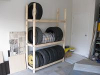 homemade tire rack | For the Home | Pinterest | Tire rack ...