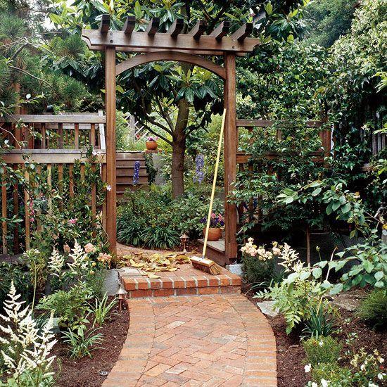 Build a Traditional Entry Arbor Arbors, Gardens and Backyard - garden arbor plans designs