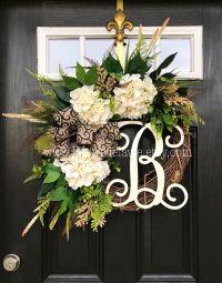 Door Reefs & Hydrangea Wreaths | Summer Wreath | Entryway ...