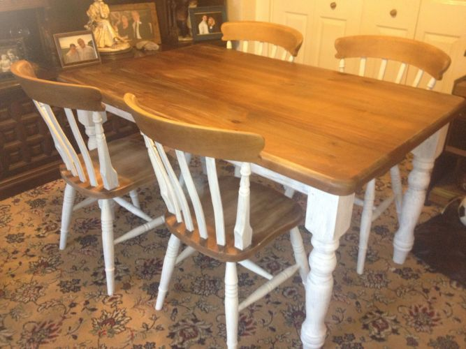 chairs for kitchen table Upcycled dining table and chairs