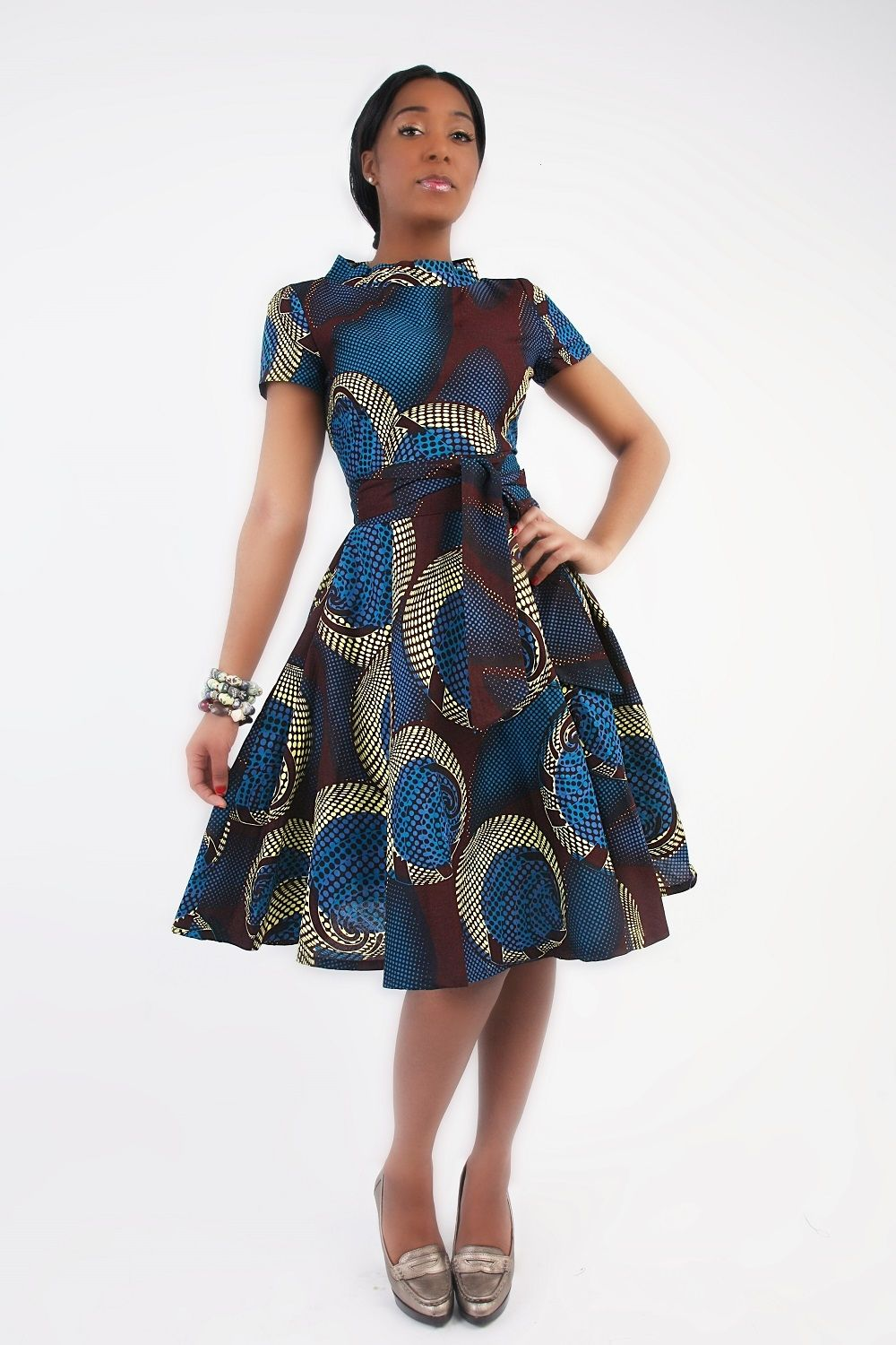 african print wedding dresses African Clothing African Circle Dress African print by Zoharous