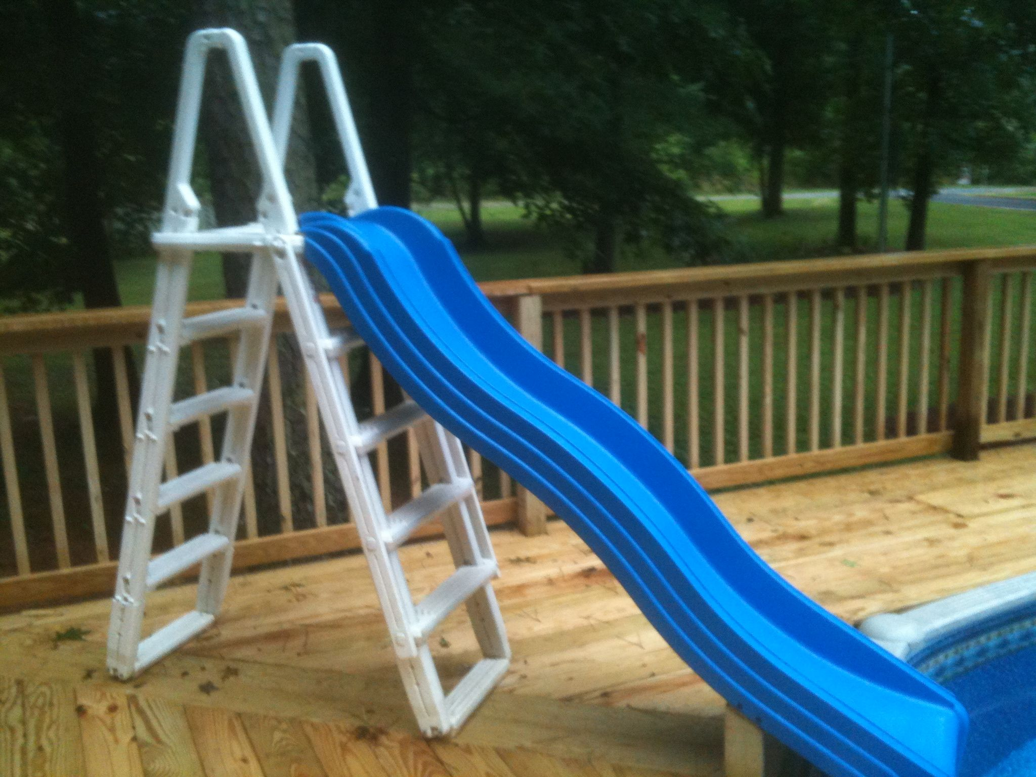 Jacuzzi Pool Ladder I Did This Over The Weekend. My Wife Found The Slide At A