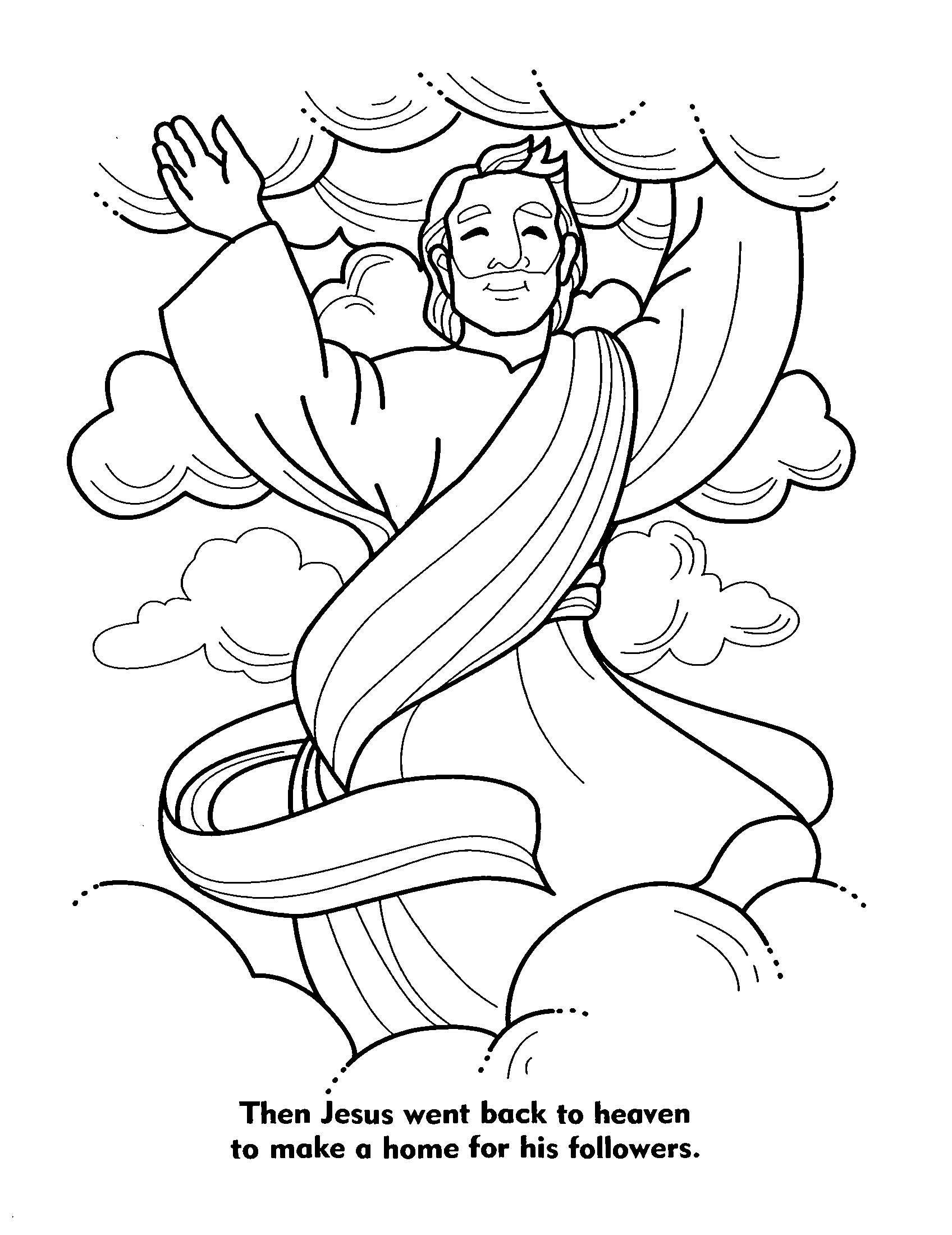 Jesus coloring pictures children bible coloring pages jesus ascension