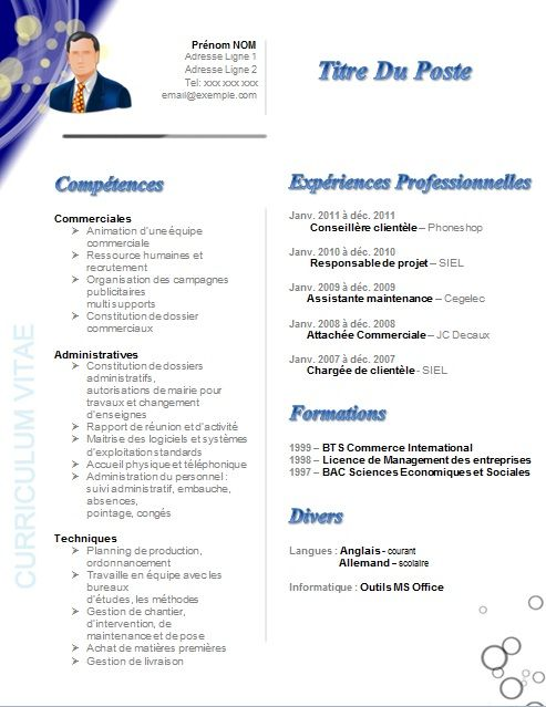 accroche cv assistant commercial