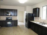 Kitchen: Gray Kitchen Cabis With Black Appliances Kitchen ...