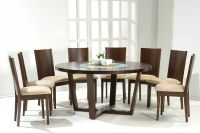 round dining tables for 8+ | Dark Walnut Modern Round ...