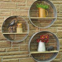 Round Metal Walls Shelves, S/3   Metal walls, Metals and Mesh