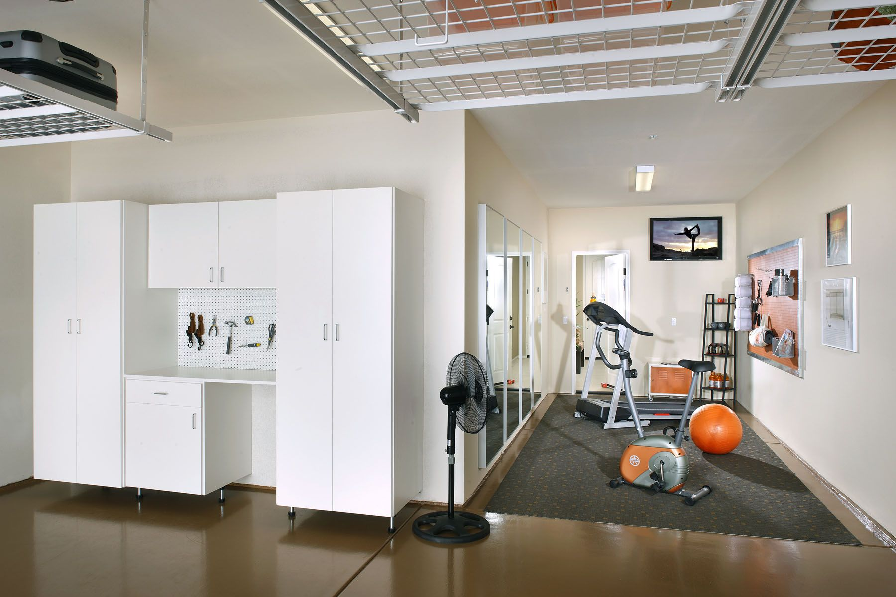Garage Gym Storage Ideas Looks To Be About The Same Size As My Room I Like The