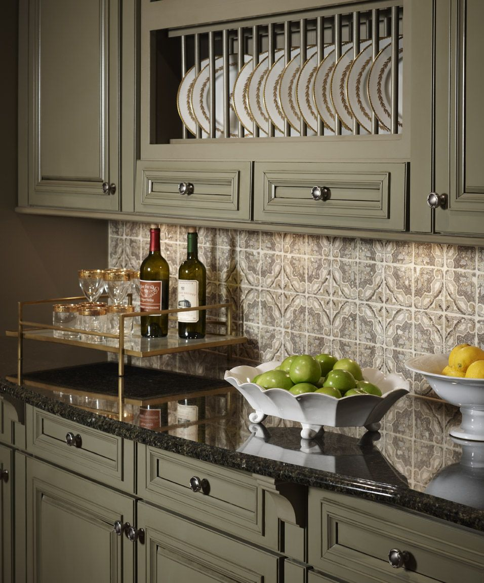 green kitchen countertops Fetching Pictures Of Green Kitchen Cabinets Appealing Sage Green Painted Kitchen Cabinet in Classic Kitchen with Wine Glass Storage and Black Granite