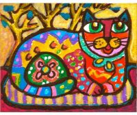 Cat Art, Whimsical Animal Art, Mexican Folk Art, Girls ...