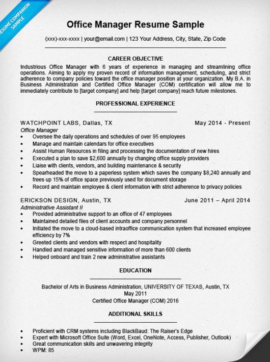 office manager resume sample companion medical examples work - office manager resume examples