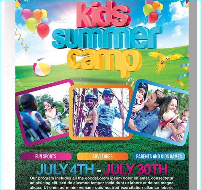 Kids Summer Camp Flyer Templete - Party Flyer Templates For Clubs - camp flyer template