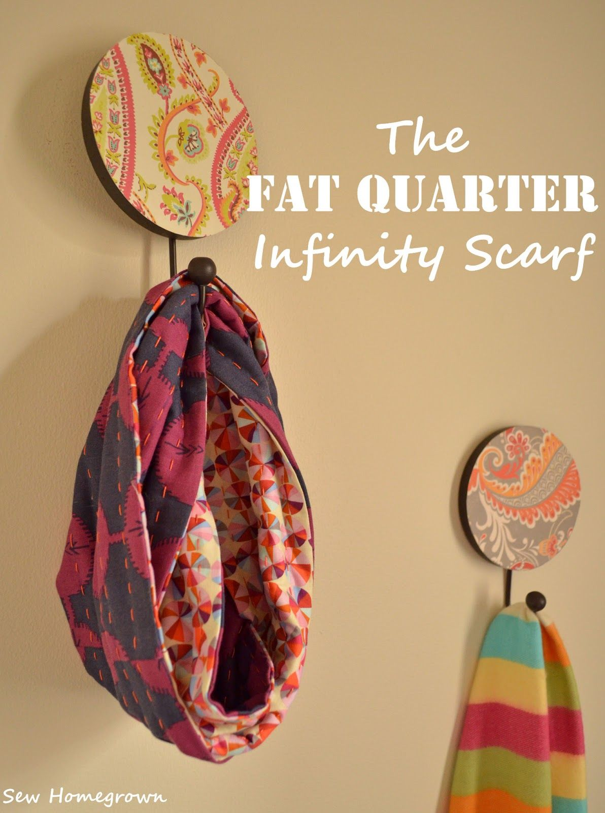 Diy Fat Quarter Projects Sew Homegrown Diy Fat Quarter Infinity Scarf My