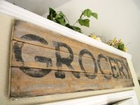 sign-wood-kitchen wall decor-country-chic-distressed ...
