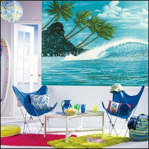 beach themed bedrooms - from sea shore, waves and sharks, surf - beach themed bedrooms