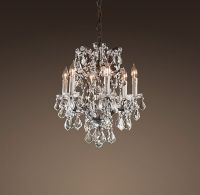 19th C. Rococo Iron & Crystal Chandelier Small | Ceiling ...