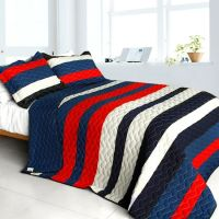 Americana Red White Blue Striped Teen Boy Bedding Full ...