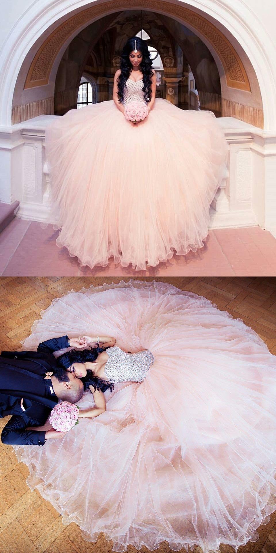 wedding dresses pink Arabic Wedding Dress wedding dress Blush pink wedding dresses Beaded sweetheart bridal