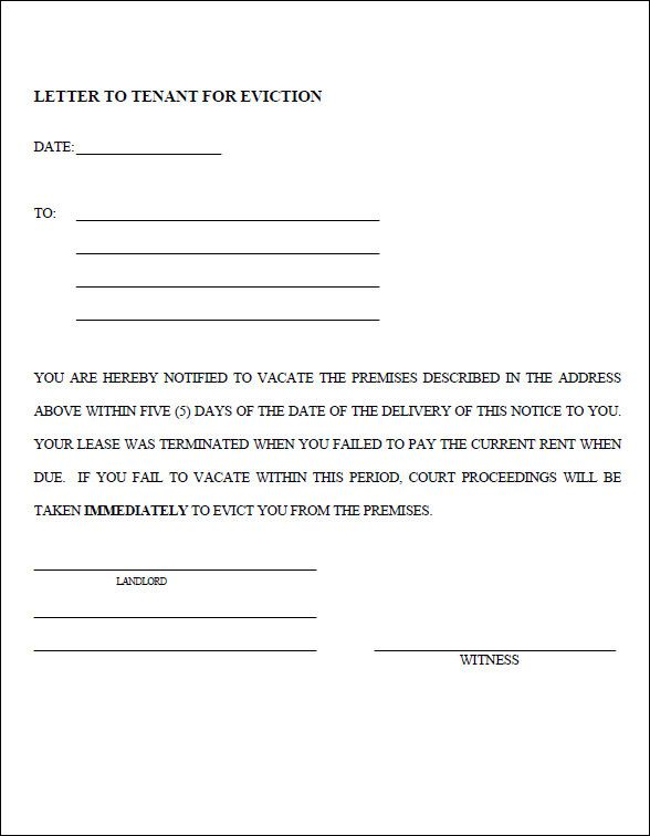 Eviction Notice Template PDF Ideas for the House Pinterest - eviction letter templates