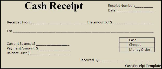 Cash Payment Receipt Template Free Cash Receipt Template - paid in full receipt template