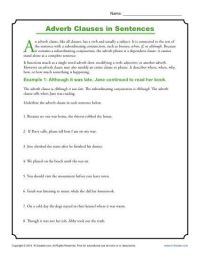Adverb Clauses in Sentences | Adverbs, Sentences and ...