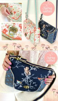 Free purse sewing pattern - cross body sewing tutorial ...