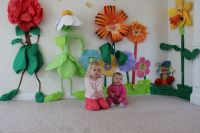 Alice in Wonderland Flower Garden Decorations - I made ...